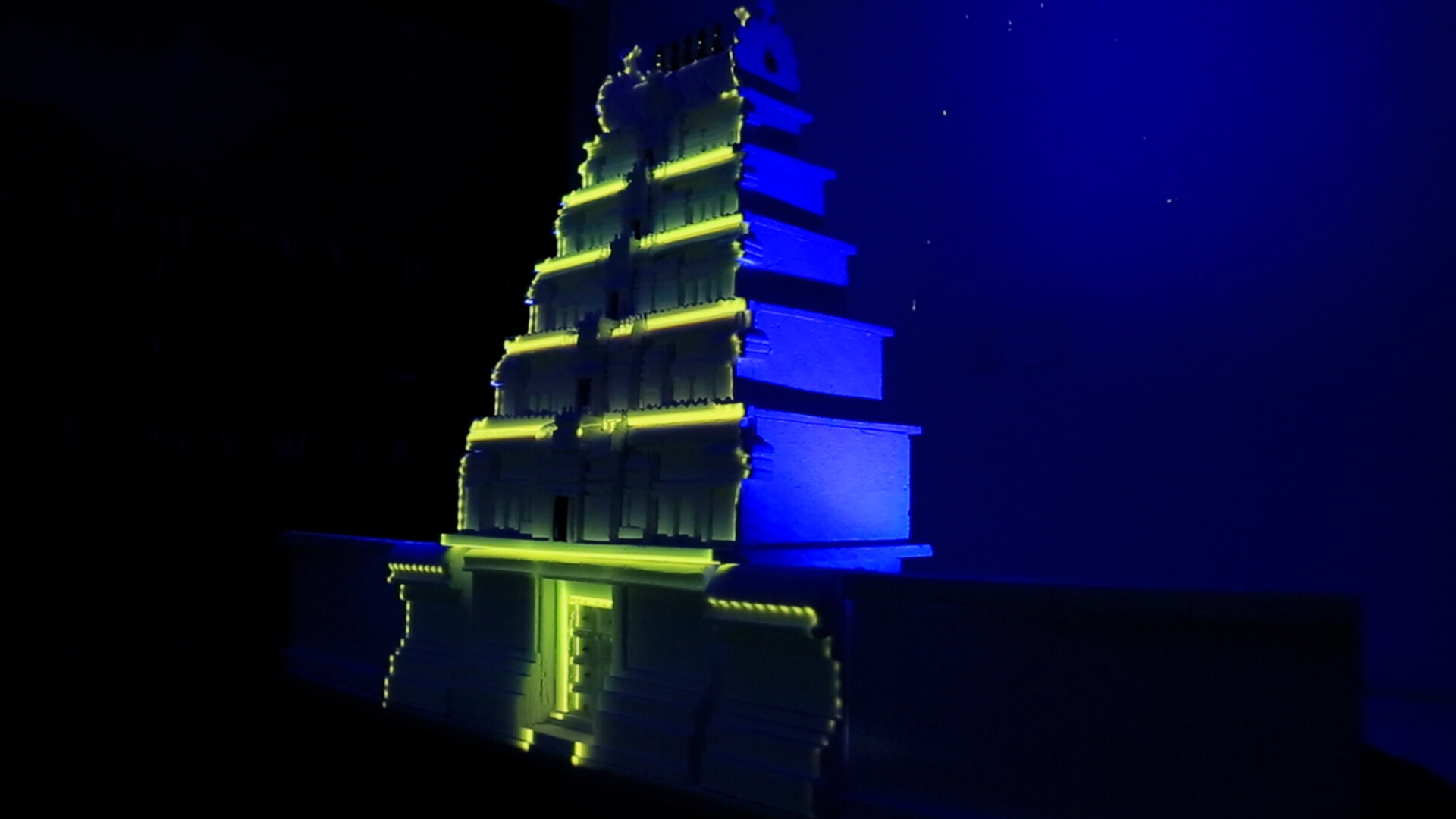 Temple Projection mapping, 3d, video projection, srushti creative